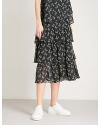 The Kooples - Frilled Chiffon Skirt - Lyst