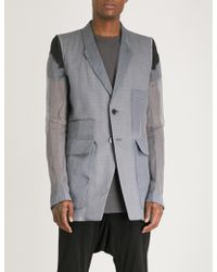Rick Owens - Berger Silk And Cotton Jacket - Lyst