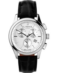 Links of London - 6020.1153 Regent Chronograph Stainless Steel And Leather Watch - Lyst