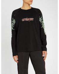 Givenchy - Flame Cross Printed Cotton-jersey Sweatshirt - Lyst