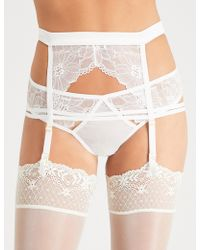 Bluebella - Emerson Lace And Satin Suspender - Lyst