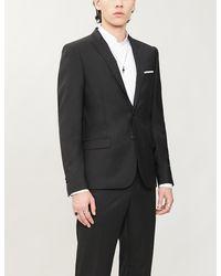 The Kooples Super 100's Single-breasted Slim-fit Wool Suit - Black