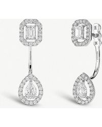Messika - My Twin Toi & Moi 18ct White-gold And Diamond Earrings - Lyst