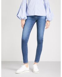 AG Jeans - The Mila Skinny Mid-rise Jeans - Lyst