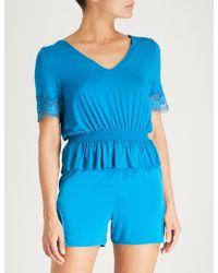 La Perla - Lapis Lace Stretch-jersey Top - Lyst
