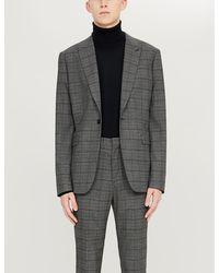 Sandro Mens Black Turtleneck Fine-knit Wool Jumper M