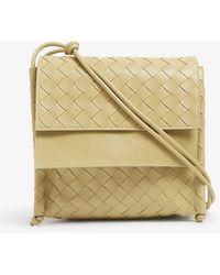 Bottega Veneta Small Bv Fold Intrecciato Leather Cross-body Bag - Metallic