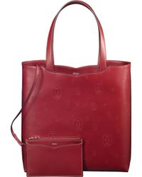 Cartier Happy Birthday 'le 18h' Calfskin Tote Bag - Red