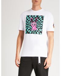 McQ - Psychedelic Bunny Cotton-jersey T-shirt - Lyst