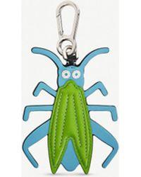 Loewe Grasshopper Leather Charm - Green