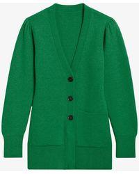 Sandro Lucien V-neck Wool-blend Cardigan - Green