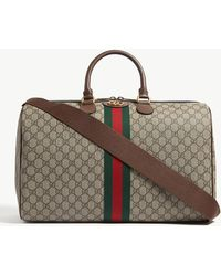 8f68a3a1c8b Gucci Gg Supreme And Kingsnake Print Tote Bag in Natural for Men - Lyst