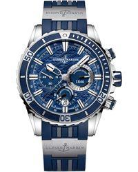 Ulysse Nardin - 1503-151-3/93 Marine Diver Chronograph Stainless Steel Watch - Lyst