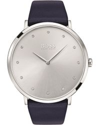 BOSS - 1502410 Jillian Stainless Steel And Leather Watch - Lyst