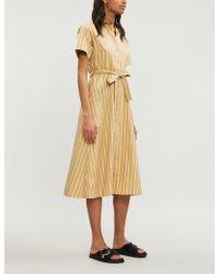 4c90bf6351c Lyst - Sandro Floral-print Silk-crepe Dress in Black