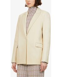 Rosetta Getty - Single-breasted Leather Blazer - Lyst