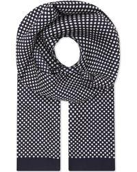Eton of Sweden Polka Dot Silk Pocket Square - Black