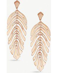 Kendra Scott - Lotus 14ct Rose Gold-plated Brass Earrings - Lyst