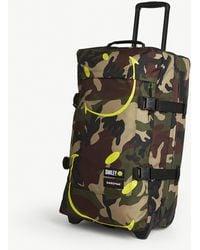 Eastpak X Smiley Camo-print Woven Suitcase 67cm - Green