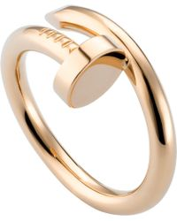 Cartier - Juste Un Clou 18ct Pink-gold Ring - Lyst