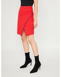 Pinko - Gladiolo Asymmetric Knitted Mini Skirt - Lyst