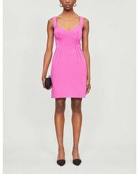 Emilia Wickstead Jude Stretch-woven Mini Dress - Pink