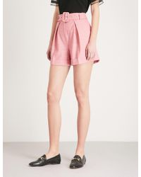 Claudie Pierlot - High-rise Woven Shorts - Lyst