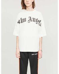 Palm Angels Logo-print Cotton-jersey T-shirt - White