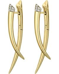 Shaun Leane - Crossover Tusk Yellow Gold Vermeil And Diamond Earrings - Lyst
