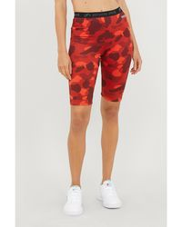 A Bathing Ape Camouflage-print Stretch-jersey Shorts - Red