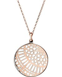 Links of London Timeless 18ct Rose-gold Vermeil Arch Necklace - Pink