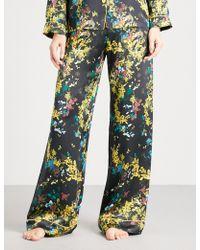 Meng - Floral-print Silk-satin Pyjama Trousers - Lyst