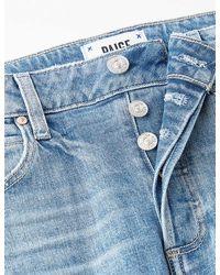 PAIGE Sarah Straight Ankle High-rise Stretch-denim Jeans - Blue