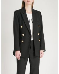 Mo&co. - Double-breasted Wool-blend Blazer - Lyst