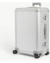 Fpm Fabbrica Pelletterie Milano Bank S Spinner 68 Aluminium Suitcase - Metallic