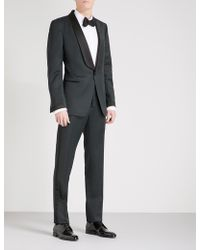 Tom Ford Classic-fit Wool And Mohair-blend Tuxedo - Blue