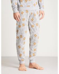Moschino - Bear-print Cotton Jogging Bottoms - Lyst
