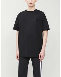Balenciaga Copyright Cotton-jersey Logo T-shirt - Black