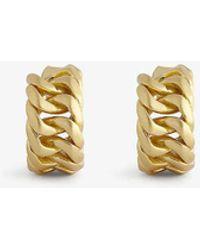 Oroton Mika Gold-toned Brass Hoop Earrings - Metallic