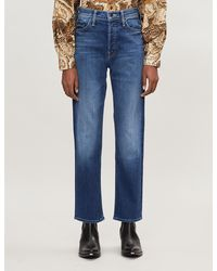 Mother The Tomcat Ankle Straight High-rise Jeans - Blue