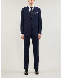 Tom Ford Single-breasted Wool Suit - Blue