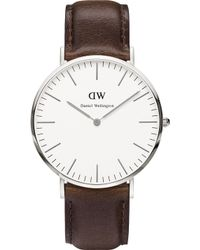Daniel Wellington - 0209dw Bristol Stainless Steel And Leather Strap - Lyst