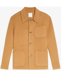 Sandro Worker Wool And Cashmere-blend Jacket - Natural