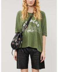 Zadig & Voltaire Logo-print Cotton-blend Jersey Sweatshirt - Green