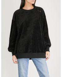 5cm - Laced-detail Velvet Sweatshirt - Lyst