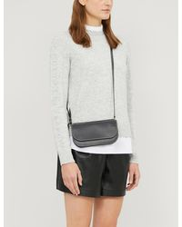 Ted Baker Lissiah Ruffle-neck Knitted Sweater - Gray