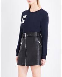 Claudie Pierlot - C Stretch-cotton Sweatshirt - Lyst