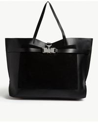 1017 ALYX 9SM Tribuckle Large Leather Tote - Black