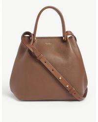 Max Mara Leather Cross-body Tote Bag - Brown