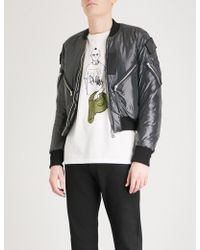 The Soloist Flag Patch Shell Bomber Jacket - Black